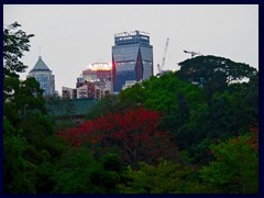 Yuexiu district, here dominated by Doubletree Hotel, seen from Yuexiu Park.