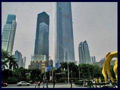 Zhujiang New Town from IFC (International Finance Centre, current tallest building).