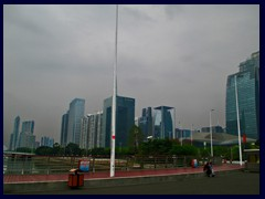 Business district at Zhujiang New Town with CC Tower in the middle.