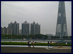 Hangzhou district with the base of Canton Tower and Pearl River.
