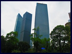Leatop Plaza, Bank of Guangzhou Tower and Fortune Center, all over 300m tall and only a few years old.