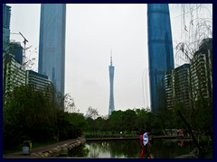Zhujiang New Town with the 3 tallest structures of Guangzhou.