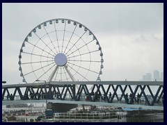 The new ferris wheel at the harbour.