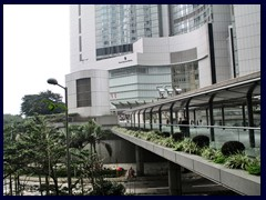 There are many skybridges in Central, that passes over the busy Connaught Road.