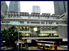 "Apple Store in IFC Mall is ""hanging"" above the street."