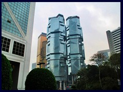 Lippo Towers, Far East Financial Center and Bank of China Tower.