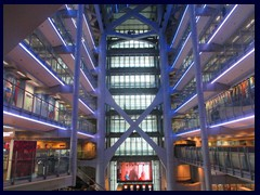 "HSBC Bank Building atrium is world famous for its ""Blade Runner"" feeling. It was designed by the world famous archiect Sir Norman Foster."