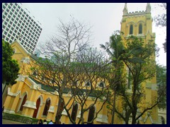 St John's Cathedral is an anglical cathedral on Garden Road. Completed in 1849, it is the oldest surviving western building in Hong Kong, and the seat of the archbishop of HK.