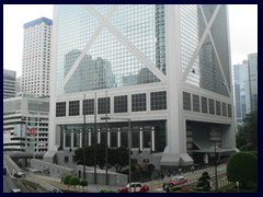 The base of Bank of China Tower at Garden Road/Statue Square.