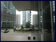 The entrance to Bank of China Tower