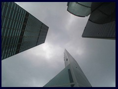Skyscrapers of Central: Cheung Kong Centre, Bank of America and Citibank Plaza.
