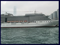 Arcadia cruise ship, Kowloon harbour
