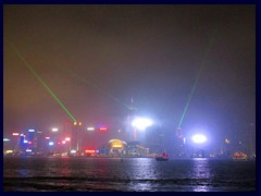"""Symphony of lights"" show seen from Tsim Sha Tsui Promenade."