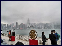 The Avenue of the Stars is modelled after Hollywood's Walk on Fame, and is part of the  Tsim Sha Tsui Promenade on South Kowloon, that offers incredible views over Victoria Harbour and the skyline of Hong Kong Island, as well as several sculptures, handprints and footprints of famous Hong Kong movie stars. It opened in 2004 and cost 40 million HK$. Attractions like the Clock Tower, the Cultural Centre and the Space Museum are all situated along the promenade. Totally 107 film celebrities are honoured along the promenade.