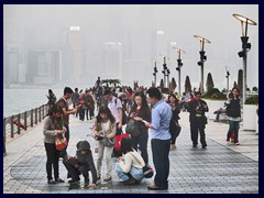 Avenue of the Stars on one of the many foggy days in HK.