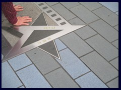 The star of Jet Li, Avenue of the Stars.