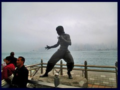 Bruce Lee statue, Avenue of the Stars. It was erected in 2005.
