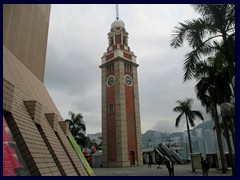 Tsim Sha Tsui Clock Tower, a famous landmark in Kowloon, is the only structure left from the old Kowloon Station, that was torn down in the 80s to make way for the new Cultural Centre. It is 44m tall and was built in 1915. Oficially it is named Former Kowloon-Canton Railway Clock Tower.