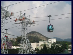 Cable cars to the other side of Ocean Park.