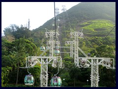 Cable cars above Ocean Park.