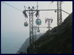Cable cars at Ocean Park.