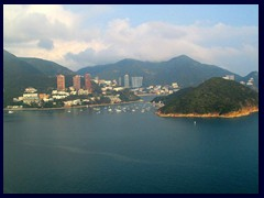 Repulse Bay and Middle Island seen from the cable car.