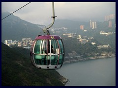 The cable cars take you to the other side of Ocean Park. A thrilling but stable ride!