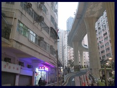 Sai Ying Pun elevated highway.