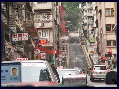 Sheung Wan; a hilly street near our hotel.