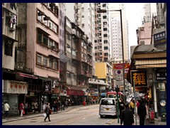 Queens Road West near our hotel at the border of Sheung Wan and Sai Ying Pun.