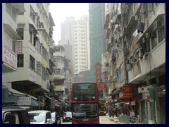 Double decker at Queens Road West, Sheung Wan.
