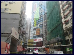 The colourful Ibis Hotel at Des Voeux Road, Sheung Wan.