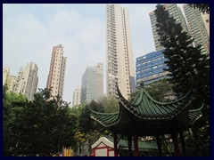Hollywood Road Park and skyscrapers