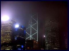 Central by night with Bank of China Tower in focus.