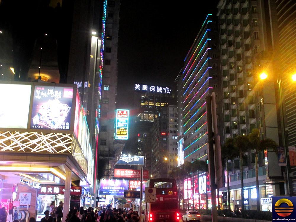 The Main Road Of Tsim Sha Tsui Kowloon Really Comes Alive At