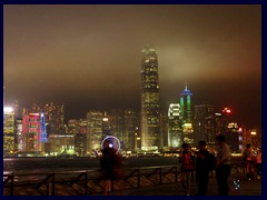 Central Hong Kong Island skyline by night, seen from Avenue of the Stars, Tsim Sha Tsui