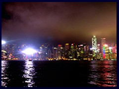 Hong Kong Island at night seen from Ave of the Stars, Kowloon