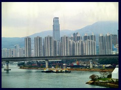 Tseun Wan in NW HK dominated by 80-storey Nina Tower from 2007 (6th tallest in HK).