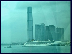 International Commerce Center (ICC), West Kowloon, tallest building in HK. 484m, 108 floors. Built in 2010.