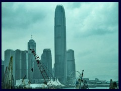 International Finance Centre (IFC), Central, 2nd tallest in HK. 412m, 90 floors. Built 2003.