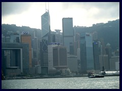 Central skyline with Bank of China, Cheung Kong Centre and more.