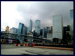 Central and Admirality districts with Bank of China, Cheung Kong Centre, Jardine House.
