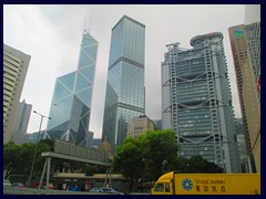 Statue Square with Bank of China Tower, Cheung Kong Centre, Old Bank of China, HSBC Building and Legco Building