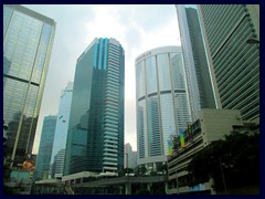 Pacific Place complex in Admirality. Includes the de luxe hotels Conrad, Shangri-La and JW Marriott.