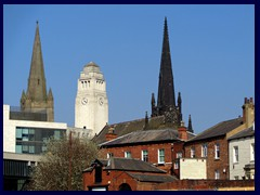 Churches and Parkinson Bldg, University area