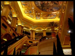 Beautiful stairway, vaults and roof paintings at The Venetian Macao Resort Hotel and Casino.