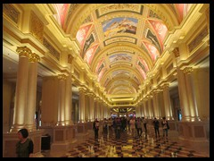 Grand Lobby, The Venetian. Reminds of a European castle.