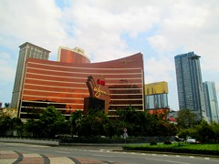 Wynn Macau Hotel Casino with other casino hotels in the background.