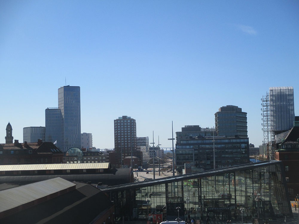 Malm 246 Skyline From The Central Station S Garage
