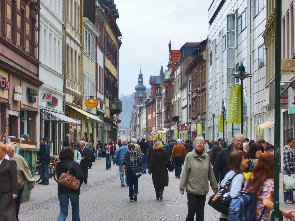 Heidelberg'de Alışveriş